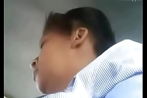 Upskirt of Indian Office woman in Bus