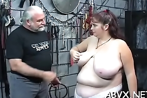 Amateur servitude with naked playgirl