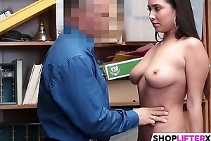 Busty Shoplifting Beauty Gets Punished