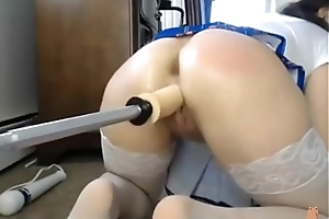 Dildo Machine Masturbates a Hot Lady - 2nd Part on cumminngs.com