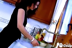 French Housewife Lou Charmelle Ass Fucked In The Kitchen