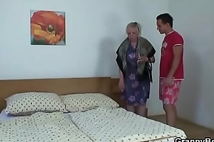 Guy picks near and busty granny for sex
