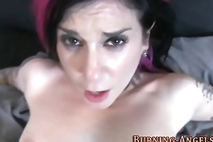 Goth slut has pov anal