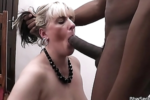 Wife leaves and he fucks blonde BBW
