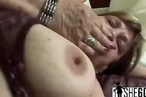 Chubby spoiled GILF is devouring a thick loaded dong with that huge ass-3