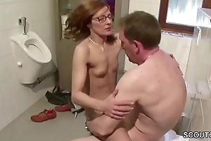 German Skinny MILF Seduce to Fuck by Outlander