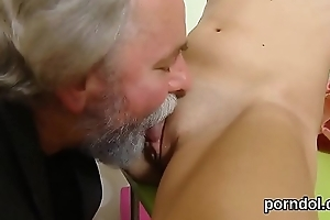 Ideal schoolgirl gets seduced and pounded by her older schoolmaster