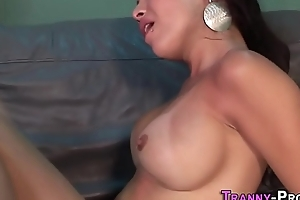 Busty tgirl ass plowed