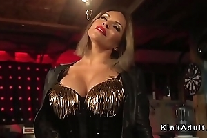 Huge boobs tranny anal bangs defy in her shop