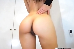 Cute goth girl shows say no to big tits and great ass