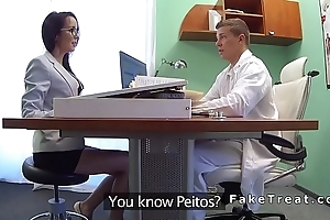 Doctor licks and fucks petite patient