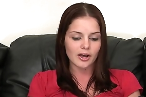 SUNBURNED REDHEAD CHICK GETS A ROUGH FUCK FOR HER AUDITION ON THE CASTING