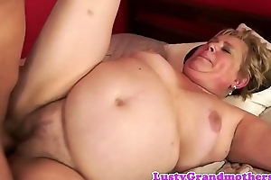 Chubby grandma dildoed onwards getting drilled