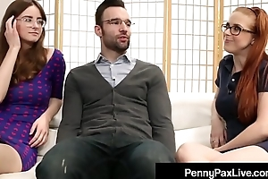 Nerdy Girls Penny Pax &amp_ Jay Taylor Get Banged By Alex Legend
