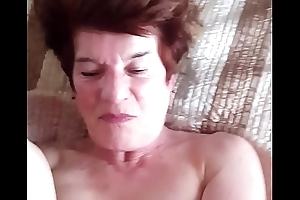 69 yold Granny Dot in Wales pulling my young black dick pt 1