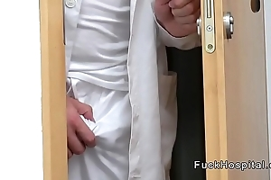 Doctor spying then fucking blonde