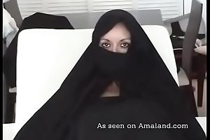 Hot Arab MILF sucking big dick