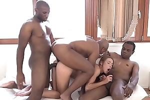 Teen Nympho Alexis Crystal gets Blacked by 3 bulls &amp_ creampied in all holes