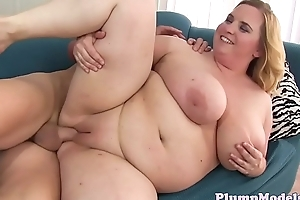 Cockriding BBW gets fed with hard cock